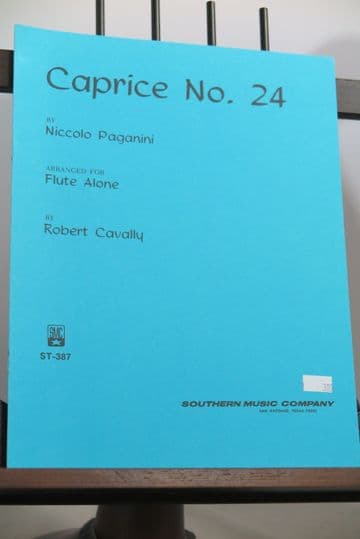 Paganini N - Caprice No 24 for Flute Alone arr Cavally R